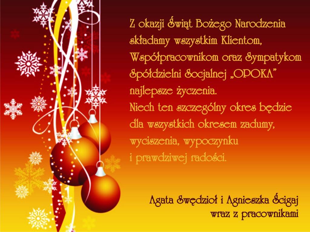 Opoka na Boże Narodzenie 2011
